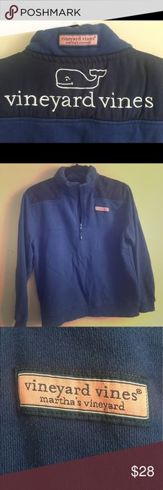 Youth Vineyard vines shep pull over - size Large I live the logo and the whale on the back.  Hard to find this pattern.  It does have some fading and a little bit of pilling - but super cute and comfy!!! Vineyard Vines Shirts & Tops Sweatshirts & Hoodies