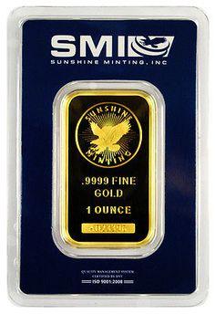 Special Price! Sunshine Minting Inc 1 Troy Oz. .9999 Gold Bar *USA* SKU26817