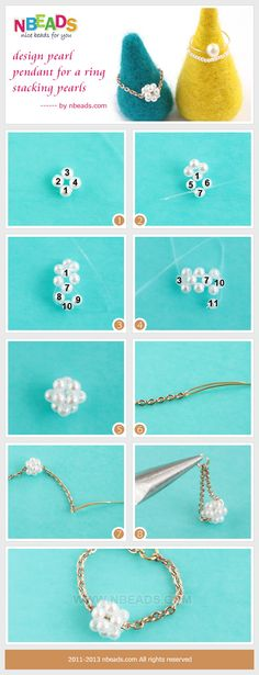 Design Pearl Pendant for A ring-Stacking Pearls diy crafts craft jewelry diy jewelry