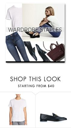 """Wardrobe Staples White Shirt"" by voguefashion101 ❤ liked on Polyvore featuring Marc by Marc Jacobs, Gucci and J Brand"