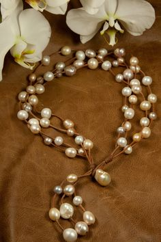 Multi-colored freshwater pearls go with everything!