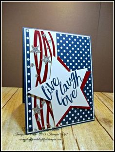 21 Cool Stampin' Up! Card Ideas & More (Mary Fish, Stampin' Pretty The Art of Simple & Pretty Cards) Military Cards, Mary Fish, Star Cards, Stamping Up Cards, Bird Cards, Scrapbook Cards, Scrapbooking, Tampons, Pretty Cards