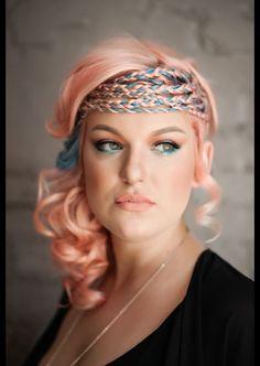 pravana toocutecoral peachhair, amazing! Love braids that intermix