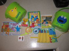 Sesame Street party favors bucket