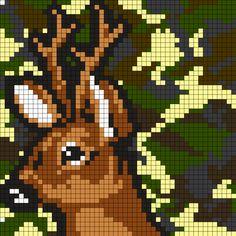 Deer camouflage Perler Bead Pattern