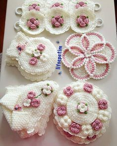 💕 💕 @lifsepetim 👏💖💐😇 .. .. .. .. @mini_minyon_sef 🌟Siz hayal edin biz yapalım 🌟Doğum günü pastası Nişan _söz pastası  Babyshower pastası… Crochet Flower Patterns, Crochet Blanket Patterns, Crochet Motif, Crochet Designs, Crochet Flowers, Crochet Lace, Potholder Patterns, Crochet Potholders, Baby Shower Kuchen