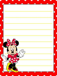 "Minnie Mouse - Project Life Journal Card - Scrapbooking ~~~~~~~~~ Size: 3x4"" @ 300 dpi. This card is **Personal use only - NOT for sale/resale** Logo/clipart belongs to Disney. *** Click through to photobucket for more versions of this card including ones with and without dotty background ***"