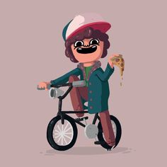 """Dustin Henderson by Josh Trotter - """"""""Hey Nancy…there's a slice left if you want it?"""" Stranger Things was so good, but you already know that! Well, you better!"""""""
