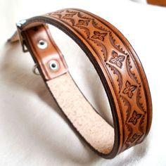 Tooled Leather Dog Collar Images & Pictures - Becuo