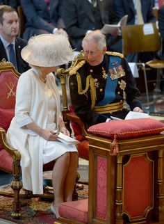 Prince Charles and Camilla Duchess of Cornwall .St Paul's cathedral. June 18th 2015