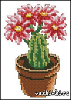 Gallery.ru / Фото #57 - ελευθε - ergoxeiro Cactus Cross Stitch, Mini Cross Stitch, Cross Stitch Flowers, Cross Stitch Charts, Cross Stitch Patterns, Cross Stitching, Cross Stitch Embroidery, Cactus Embroidery, Cactus Y Suculentas
