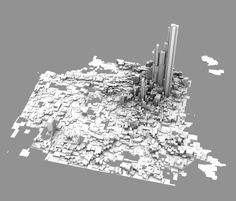 A 3d rendering of crime distribution in San Francisco. If you like it, click through — Sha is selling a huge resolution version for $2.