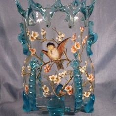Bohemian Art Glass Vase Believed To Be Harrach  c.1900