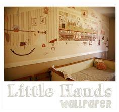 wallpaper for carlota´s room Little Hands Wallpaper, Create Awareness, Hand Illustration, Playroom, Boy Or Girl, Nursery, Bedroom Wallpaper, The Incredibles, Kids Bedroom