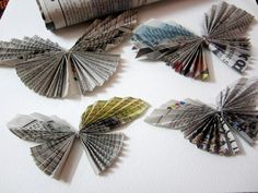 If you're looking for easy and fun craft ideas for kids, you've definitely come to the right place! We've included our best and most popular crafts for kids. Newspaper Flowers, Newspaper Crafts, Paper Crafts For Kids, Arts And Crafts, Newspaper Paper, Paper Book, Book Crafts, Fun Craft, Craft Stick Crafts