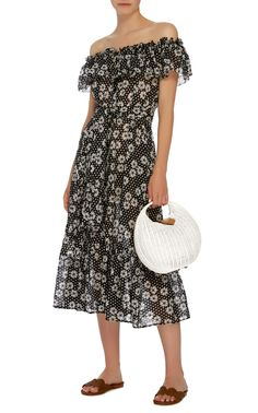 Mira Dasies and Dots Cotton-Voile Dress by LISA MARIE FERNANDEZ Now Available on Moda Operandi