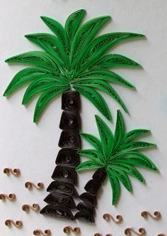 quilled palm trees | Quilling - Créations | Pinterest