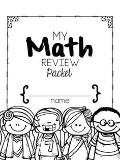 Kindergarten MATH Review -- This will be great for the end of the year.  ALL STANDARDS covered. $