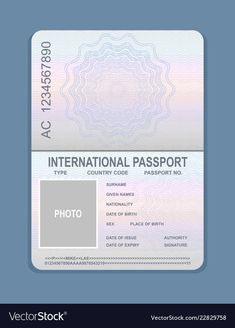 Royalty-Free Vector Images by Natalis (over Free Vector Images, Vector Free, Passport Template, Driver License Online, Credit Card Design, Passport Online, Tourism Day, Military Pictures, Instagram Frame