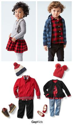 Hello, holidays! They're right around the corner. Suit up for family photos now with sweet plaid shirts, dresses, and loads of cuddly accessories.  Shop sweaters and cold-weather gear at Gap.com