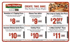graphic about Papa Murphys Printable Coupons referred to as Papa Murphy Discount coupons