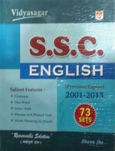 Book for SSC English Previous 2001-2013 ( for PT and Mains ) By Vidya Publication ( Vidyasagar). @mybookistaan.com