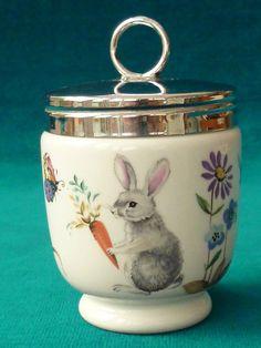 "Rare Royal Worcester ""A Skippety Tale"" Large Egg Coddler (mint) #Eggcoddler"