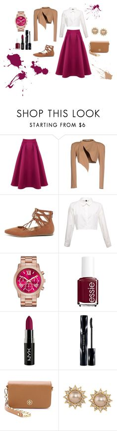 . by gabsalle on Polyvore featuring moda, Thierry Mugler, Coast, Liliana, Tory Burch, Carolee, Shiseido and Essie