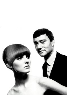 Sixties | Grace Coddington and Vidal Sasson, photographed by David Montgomery