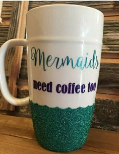 We found the perfect gift your landlocked coffee loving friend. Mermaids need coffee too. ;)