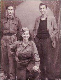 """Sara Fortis, a Greek jewish partisan posing with fellow Greek partisans from her unit. Sara formed a band of female """"andartes"""" that became indispensable to the male fighters, transforming young village girls into women warriors."""