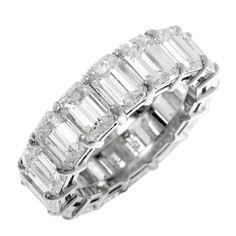 1STDIBS.COM Jewelry & Watches - By Golda Co., - Emerald Cut Diamond Eternity Band - GOLDIVA by Golda Co.
