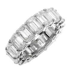 1STDIBS.COM Jewelry & Watches - By Golda Co., - Emerald Cut Diamond Eternity Band - GOLDIVA by Golda Co.