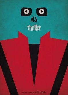 Minimalist Poster Mickael Jackson Thriller