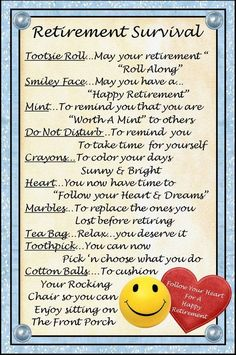 Retirement Survival Kit by CindisCandyCreations on Etsy, $1.99