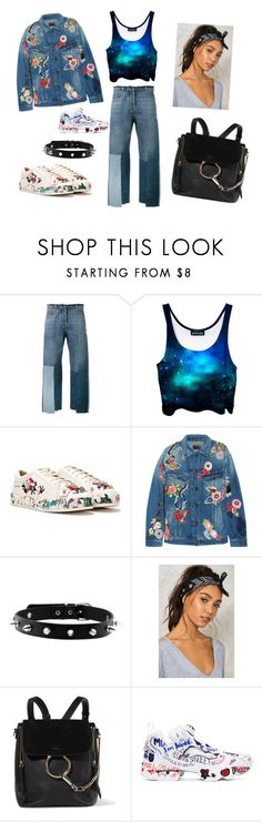 """""""Extra as F... #dontholdback"""" by ariannadesigns ❤ liked on Polyvore featuring Valentino, Nasty Gal, Yves Saint Laurent, Chloé and Reebok"""