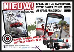 De Game AR Agenda 2014-2015. NIEUW in Nederland. De eerste schoolagenda met Augmented Reality. Speel met je smartphone vette games zo uit de Game AR Agenda.