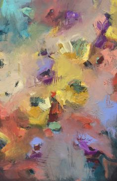 Abstract Bouquet with Sunflowers - Painter Jill Van Sickle, www.jillvansickle.com, 24x36, colorful, abstract, floral, bright