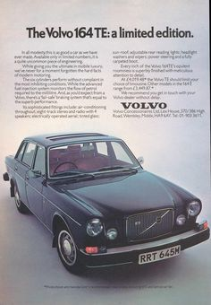 One of the greatest cars ever made: Volvo 164.