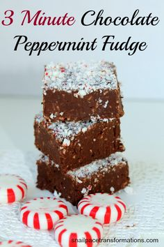 This yummy fudge takes just 3 minutes to make and uses just 3 ingredients.