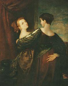 Washington Allston (American artist, 1779-1843), Sisters, c. 1817