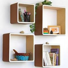 modern hanging bookshelves - Google Search