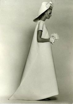 Robe de mariée en gazar de soie Balenciaga