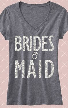 Silver Glitter #BRIDESMAIDS shirts! Only $24.99, but buy more and save. Click here to buy http://mrsbridalshop.com/collections/bridesmaids/products/bridesmaid-shirt-with-silver-glitter-print