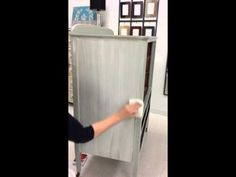 How to apply Lime Wash Glaze with a brush and remove it with a dampened staining pad. This glaze is applied over Misty Fjord furniture paint, both products a. Chalk Paint Techniques, Stain Techniques, Glazing Furniture, Chalk Paint Furniture, Liming Wax, Franklin House, Blue Chalk Paint, Swedish Style, Kitchen Witch