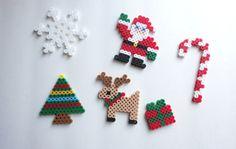 Christmas Tree Ornaments Set of 6 perler beads.