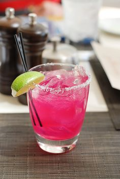 Prickly Pear Margarita {recipe} from JW Marriott Desert Ridge @J W Marriott Desert Ridge Resort & Spa | BoulderLocavore.com #margarita #cocktail