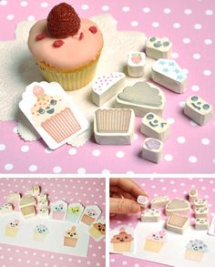 Sellos carvados de cupcakes