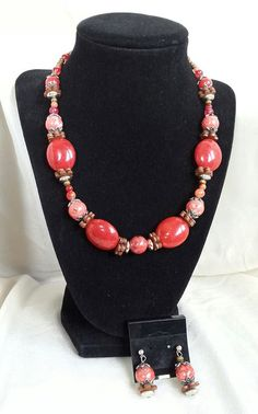 Hey, I found this really awesome Etsy listing at https://www.etsy.com/il-en/listing/237003223/red-turquoise-necklace-red-statement