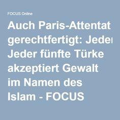 Auch Paris-Attentat gerechtfertigt: Jeder fünfte Türke akzeptiert Gewalt im Namen des Islam - FOCUS Online